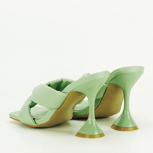 Sandale verzi cu toc Sonia [3]