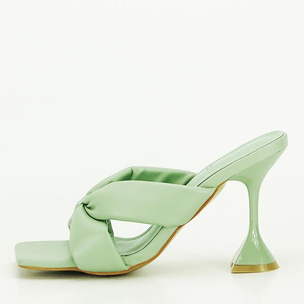 Sandale verzi cu toc Sonia [1]