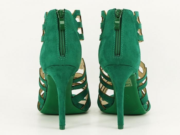 Sandale dama verzi cu toc inalt Serena 4