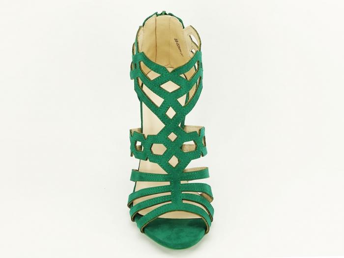 Sandale dama verzi cu toc inalt Serena 5
