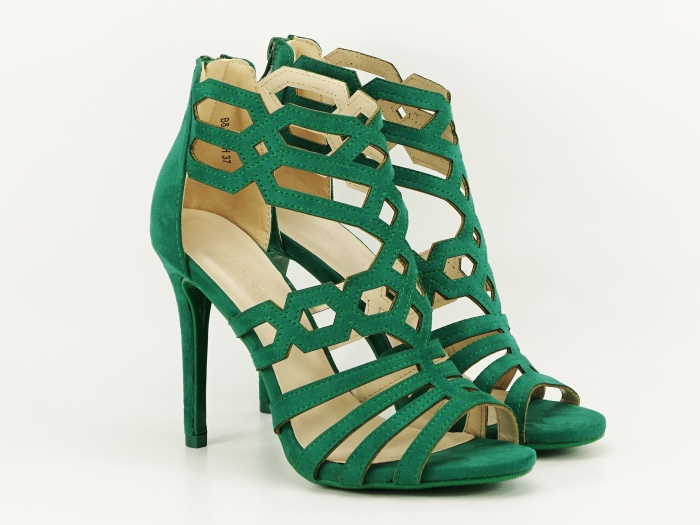 Sandale dama verzi cu toc inalt Serena 6