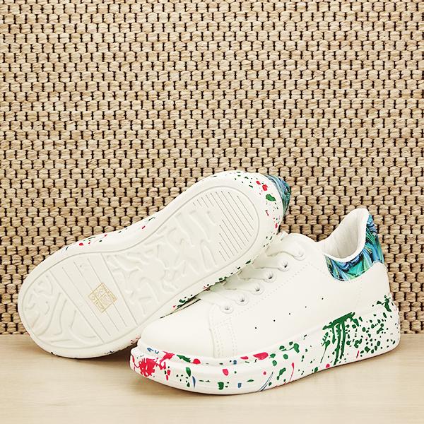 Sneakers alb cu albastru Larra [7]