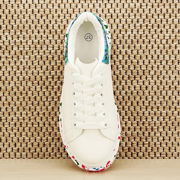 Sneakers alb cu albastru Larra [6]