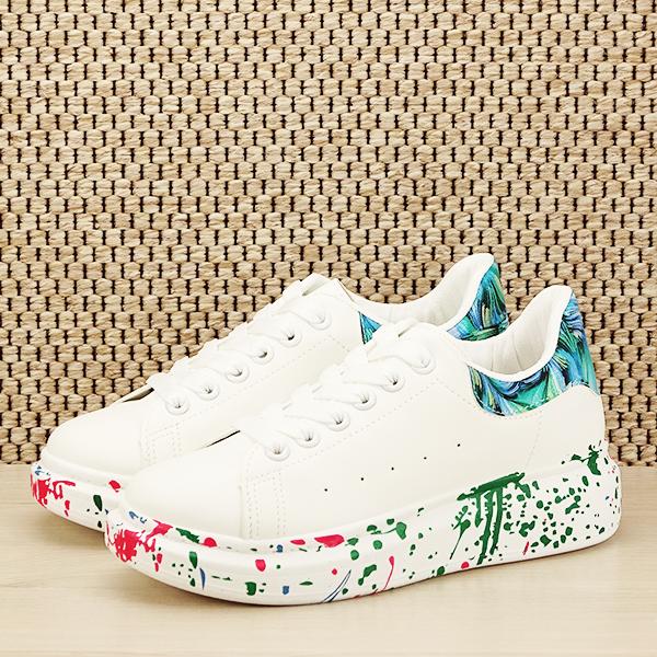 Sneakers alb cu albastru Larra [0]