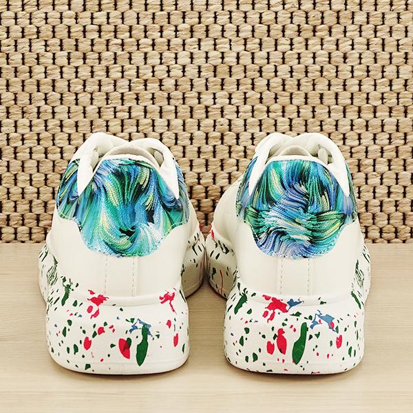 Sneakers alb cu albastru Larra [5]