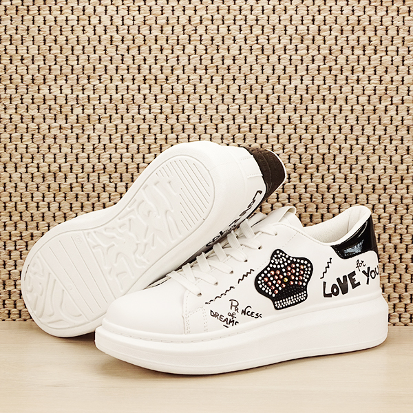 Sneakers alb cu brosa Mina [7]