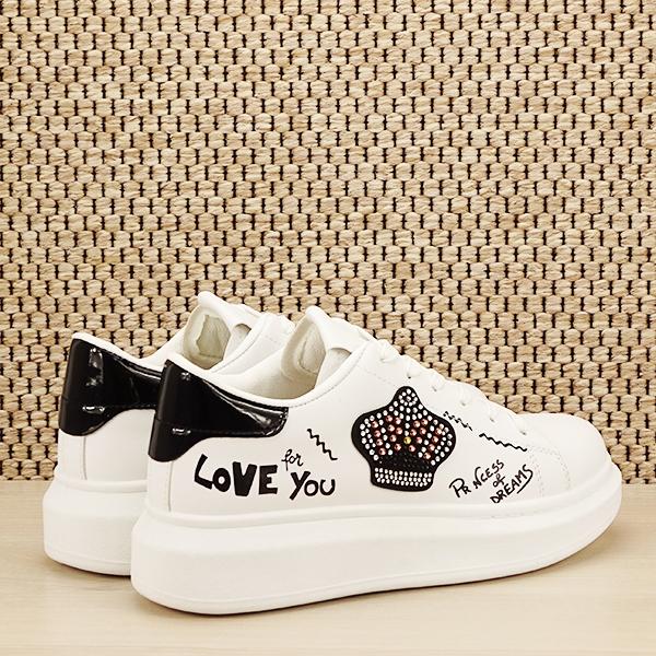Sneakers alb cu brosa Mina [4]