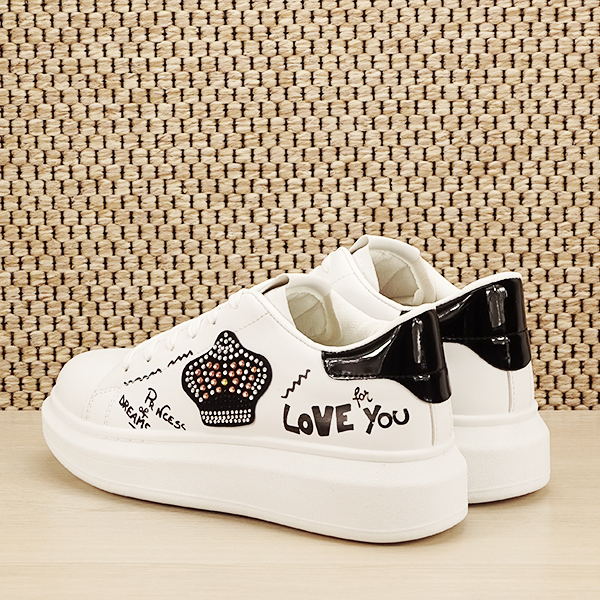 Sneakers alb cu brosa Mina [3]