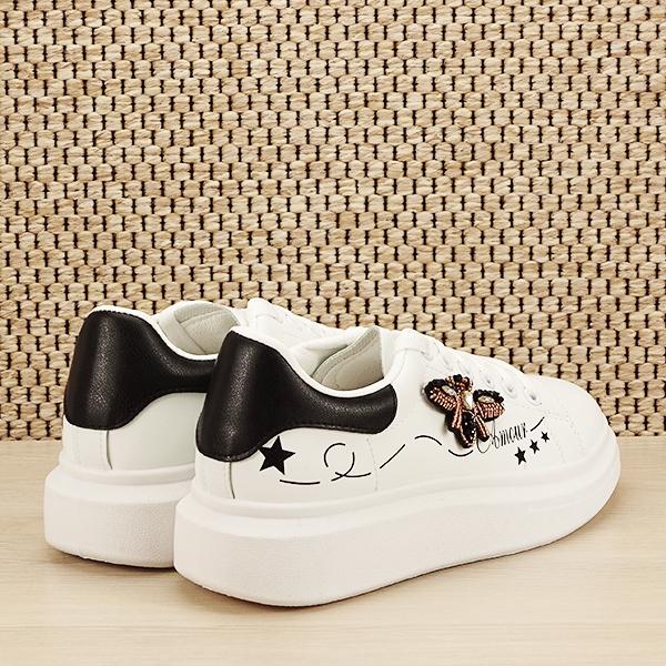 Sneakers alb cu brosa Riana [4]