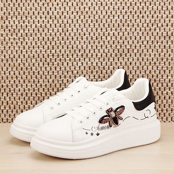 Sneakers alb cu brosa Riana [1]