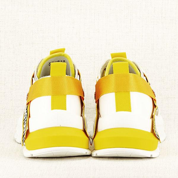 Sneakers alb cu galben Mara [5]