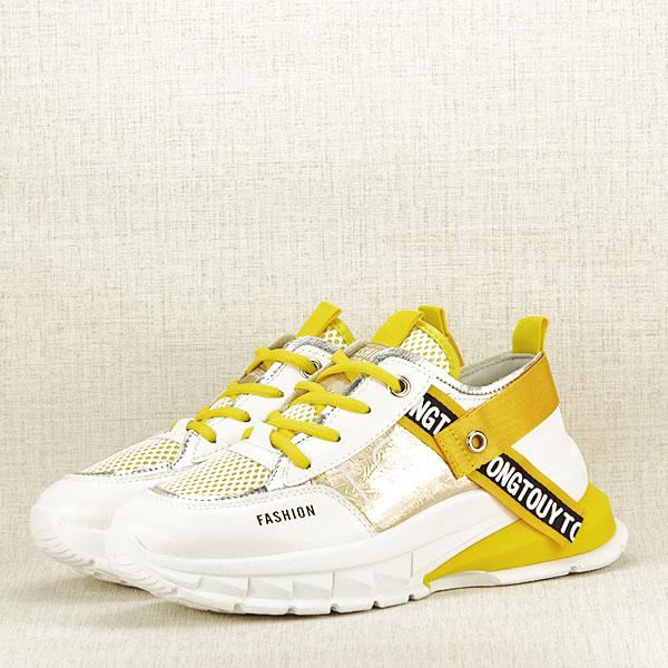 Sneakers alb cu galben Mara [1]