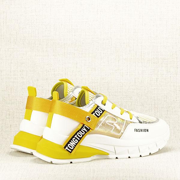Sneakers alb cu galben Mara [6]