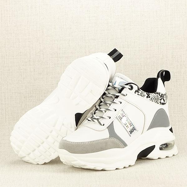 Sneakers alb cu gri High Top Marta 7