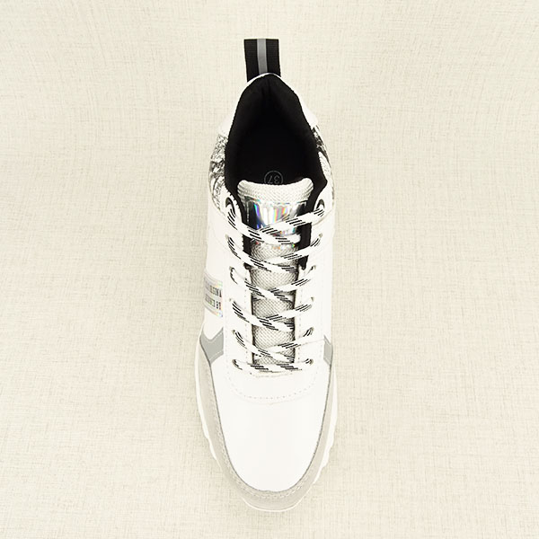 Sneakers alb cu gri High Top Marta 1
