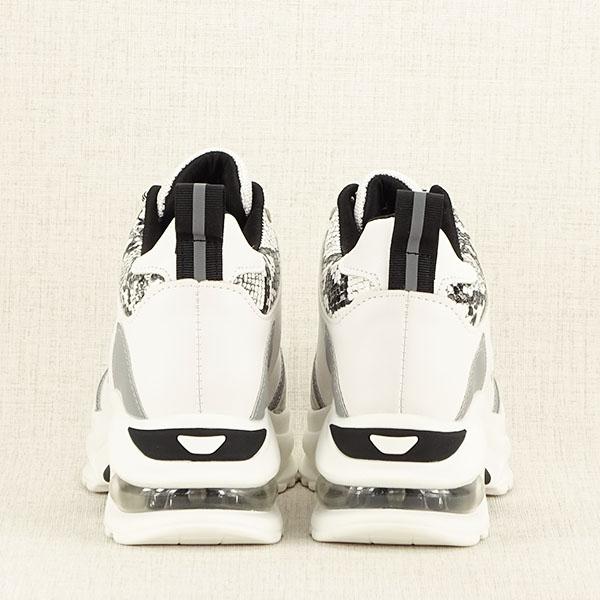 Sneakers alb cu gri High Top Marta 6