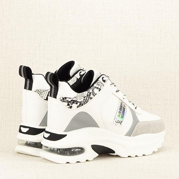 Sneakers alb cu gri High Top Marta 5