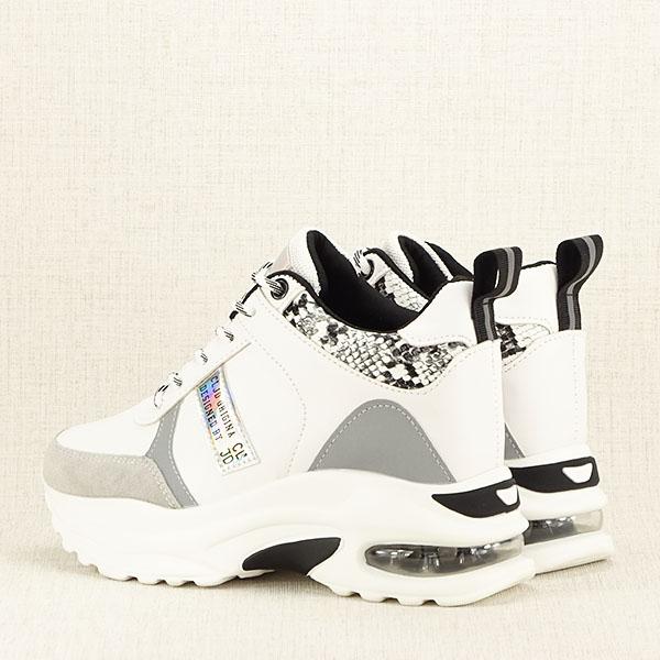 Sneakers alb cu gri High Top Marta 4