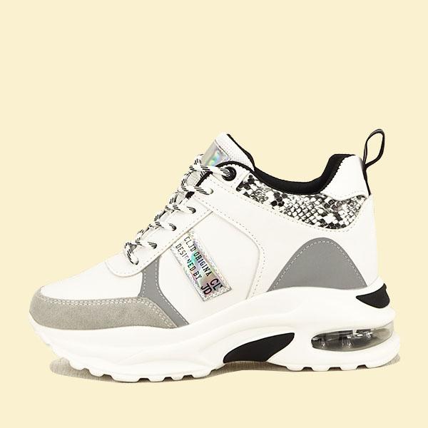 Sneakers alb cu gri High Top Marta 0