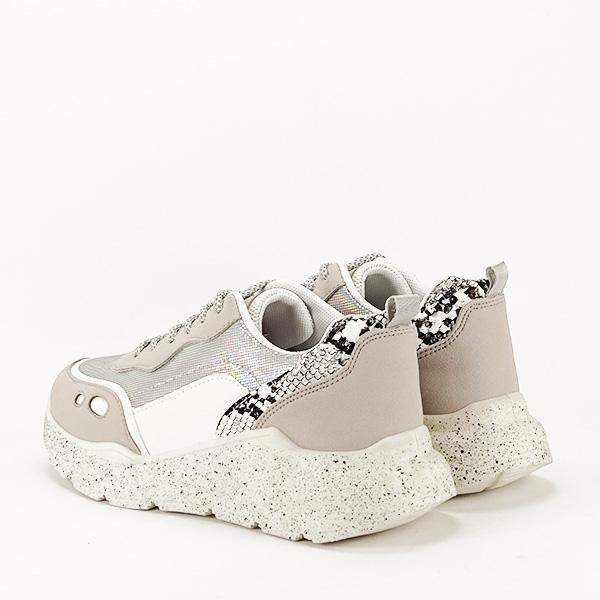 Sneakers alb cu gri Leila [3]