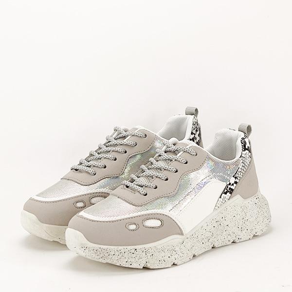 Sneakers alb cu gri Leila [1]