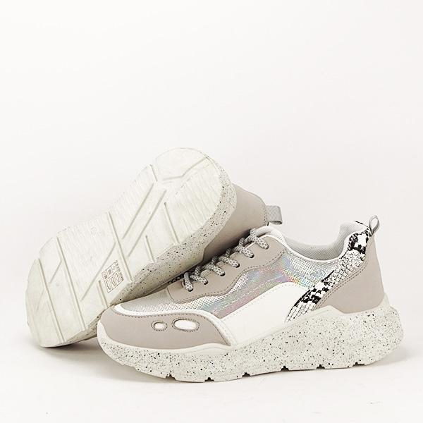 Sneakers alb cu gri Leila [6]