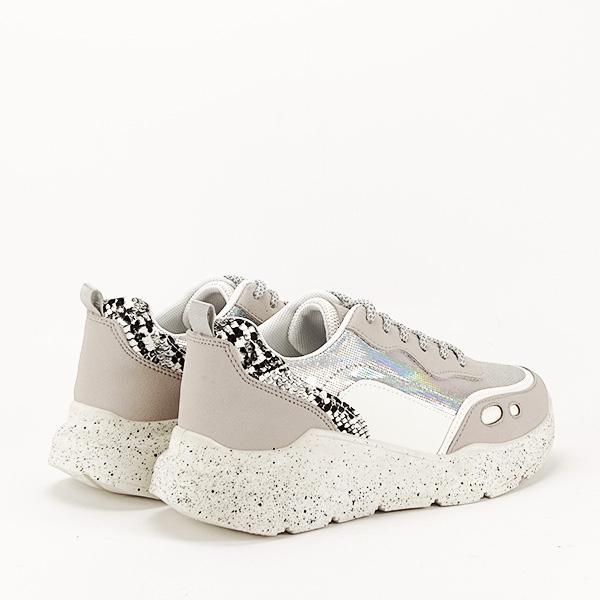 Sneakers alb cu gri Leila [4]