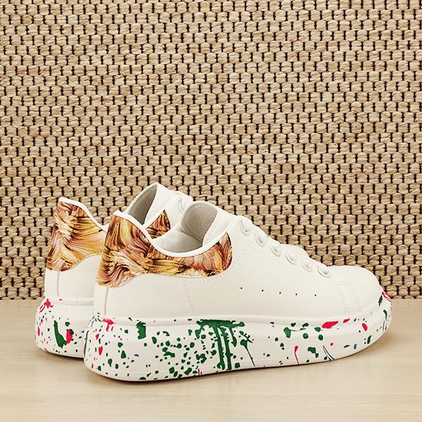 Sneakers alb cu imprimeu Larra [4]