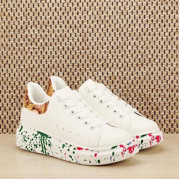 Sneakers alb cu imprimeu Larra [2]