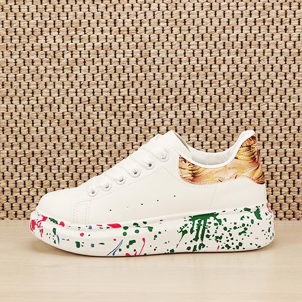 Sneakers alb cu imprimeu Larra [0]