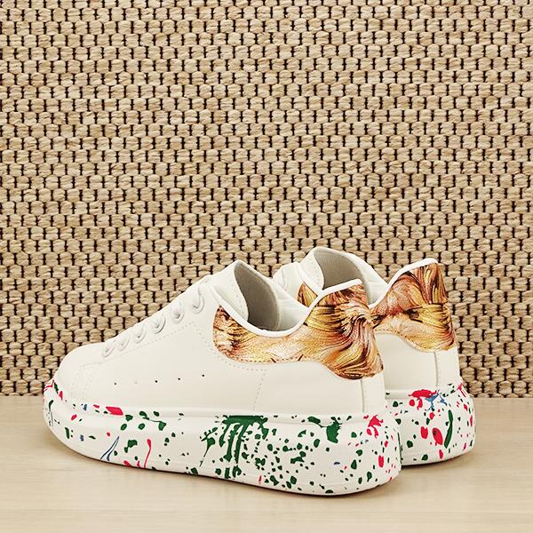 Sneakers alb cu imprimeu Larra [3]