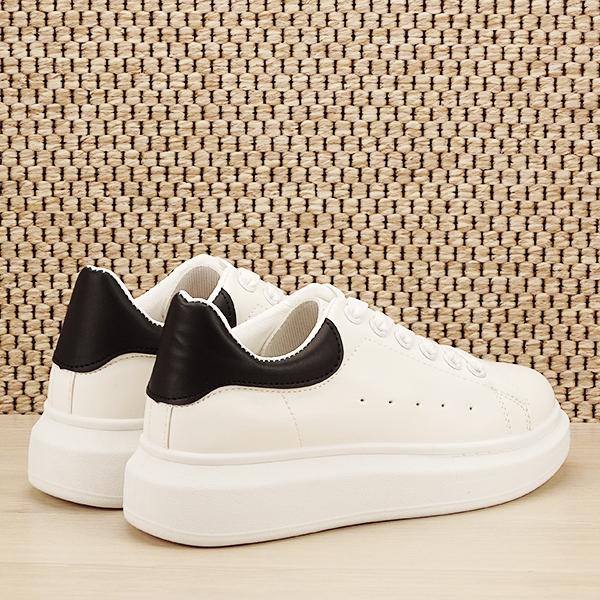 Sneakers alb cu negru Madison [4]