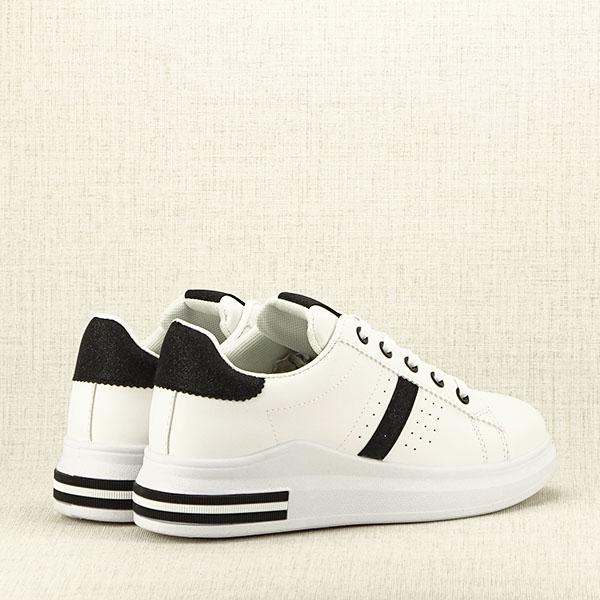 Sneakers alb cu negru Sonia 2 [5]