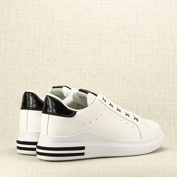 Sneakers alb cu negru Sonia 4
