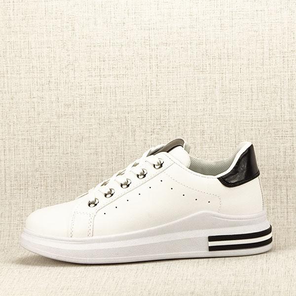 Sneakers alb cu negru Sonia 0