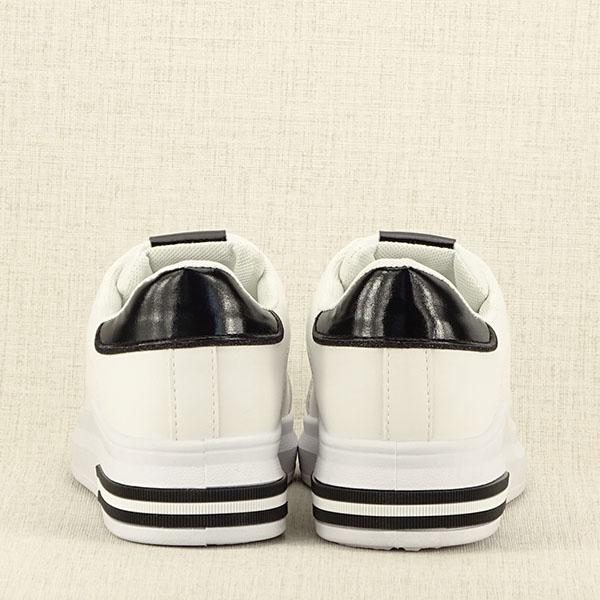 Sneakers alb cu negru Sonia 6