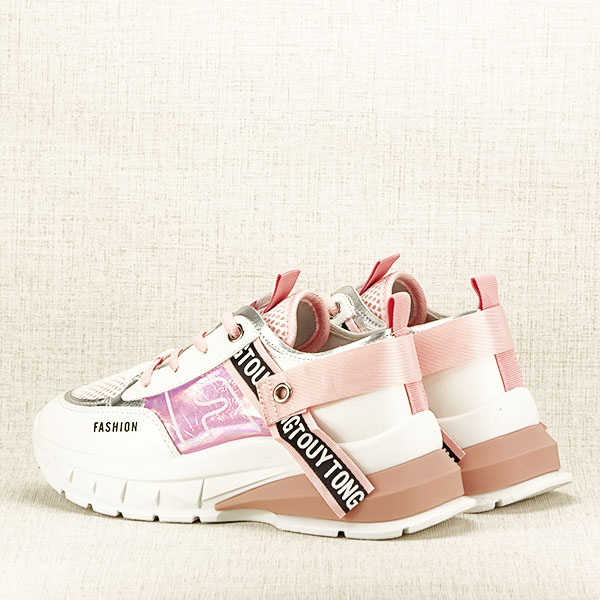 Sneakers alb cu roz Mara [4]