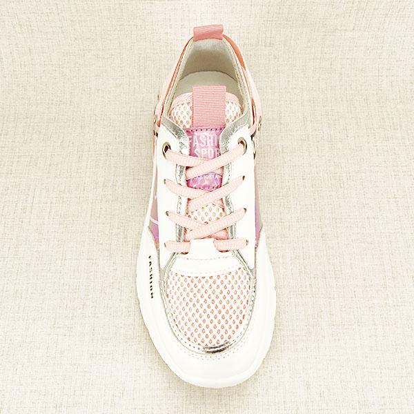 Sneakers alb cu roz Mara [7]