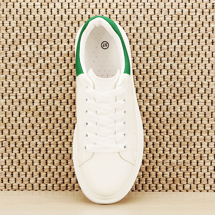 Sneakers alb cu verde Madison [6]
