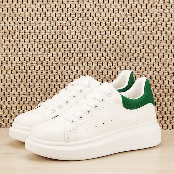 Sneakers alb cu verde Madison [0]