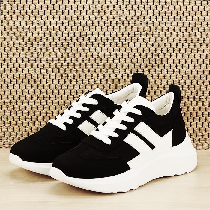 Sneakers alb/negru Calista [1]