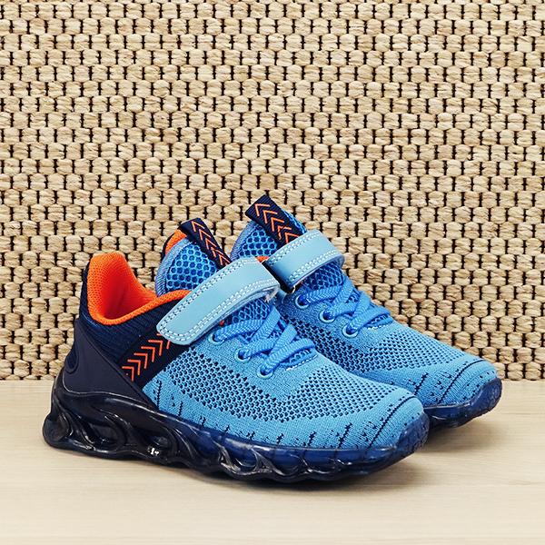 Sneakers copii cu leduri albastru Kim [2]