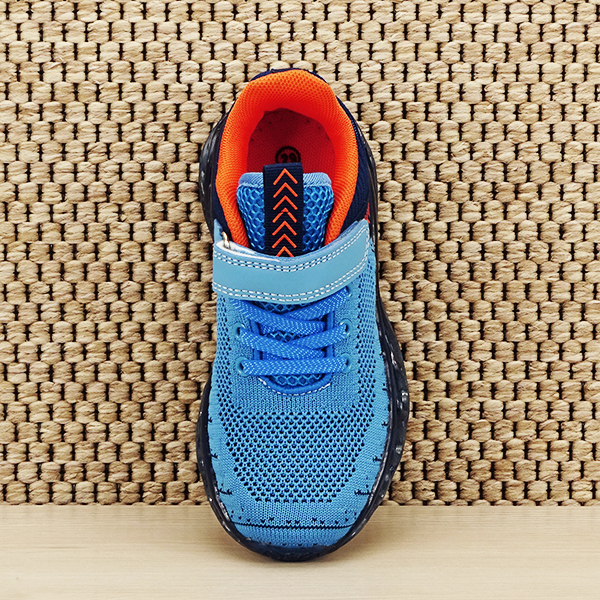 Sneakers copii cu leduri albastru Kim [6]