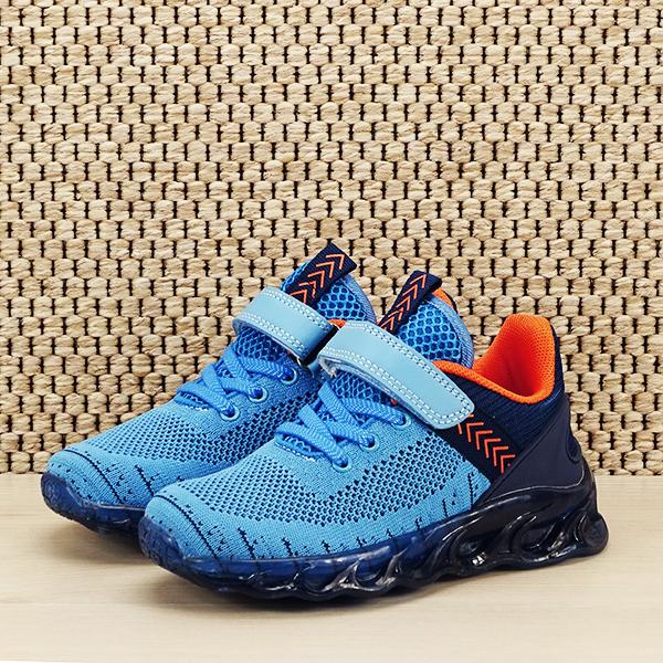 Sneakers copii cu leduri albastru Kim [1]