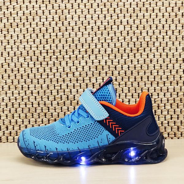 Sneakers copii cu leduri albastru Kim [0]