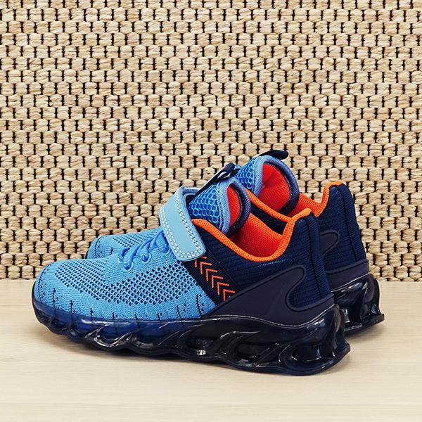 Sneakers copii cu leduri albastru Kim [3]