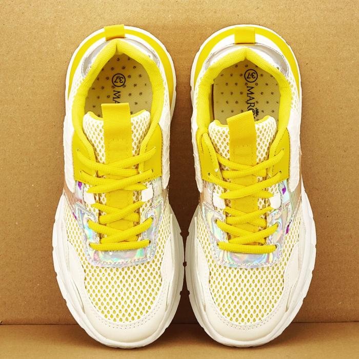 Sneakers albi cu galben Taylor 1