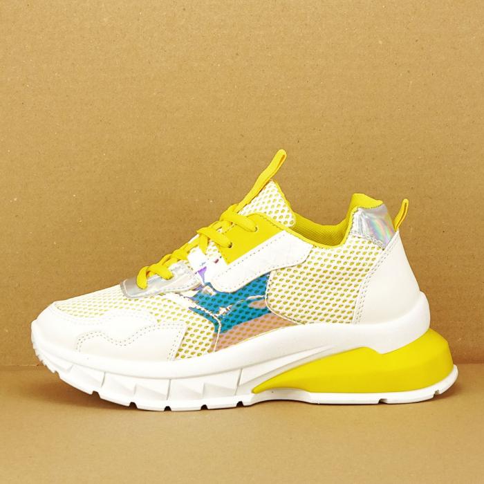 Sneakers albi cu galben Taylor 0