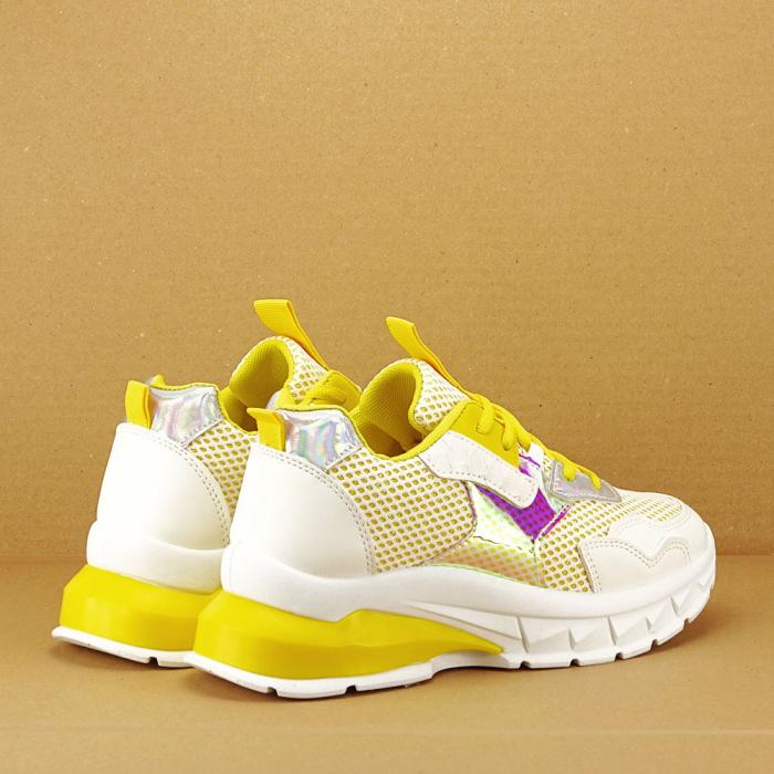 Sneakers albi cu galben Taylor 7