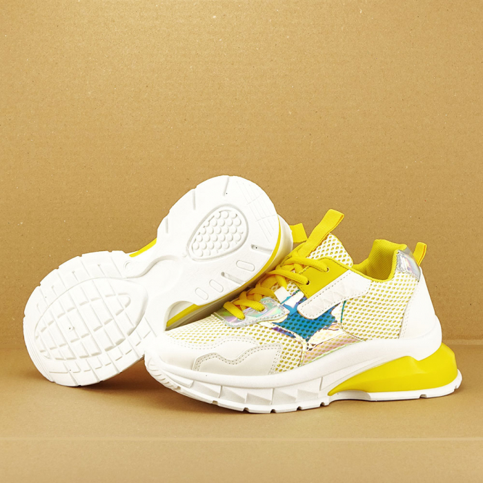 Sneakers albi cu galben Taylor 6